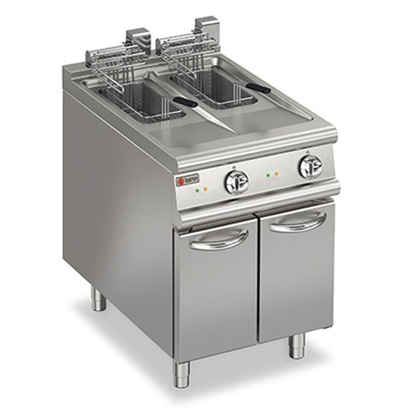 Baron deep fryer split pot electric 7fri e610