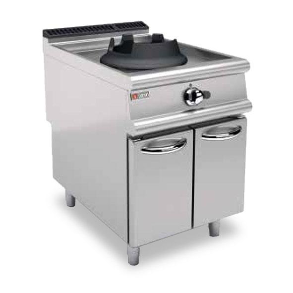 Baron gas wok cabinet single burner 70pcvp wg614