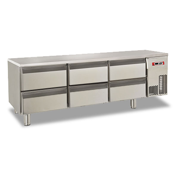 Baron refrigerated base six drawer electric br16sp04
