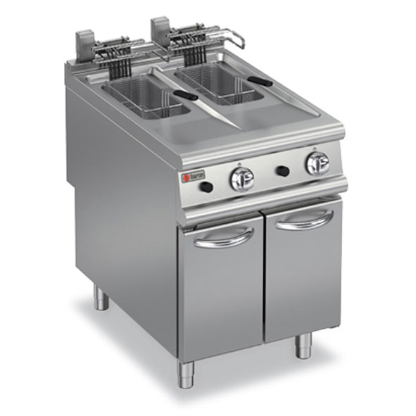 Baron deep fryer split pot electric 90fri e610