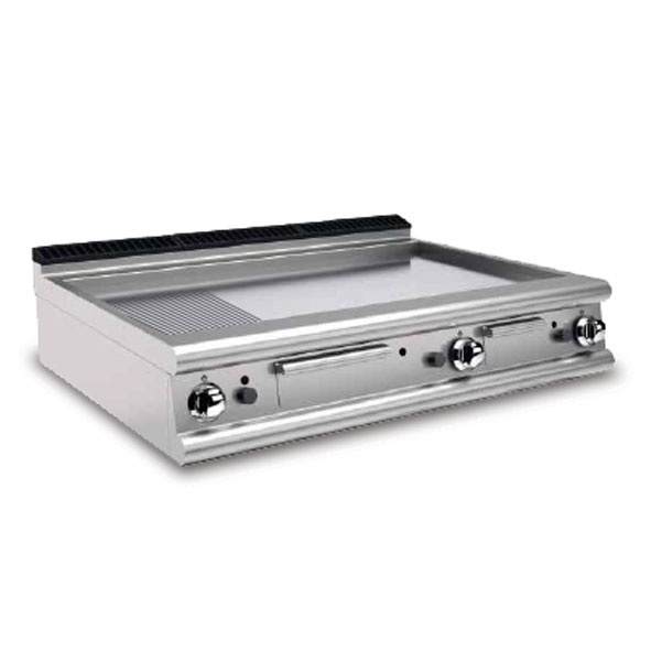 Baron griddle smooth ribbed mild steel gas 90ftt g1220