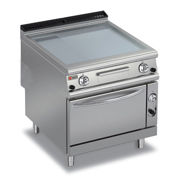 Baron griddle smooth ribbed mild steel oven gas 90fttf g820