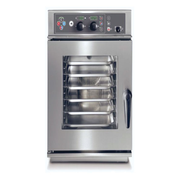 Baron baron combi oven electric 6x2 3gn slim line electronic control direct steam cev026s