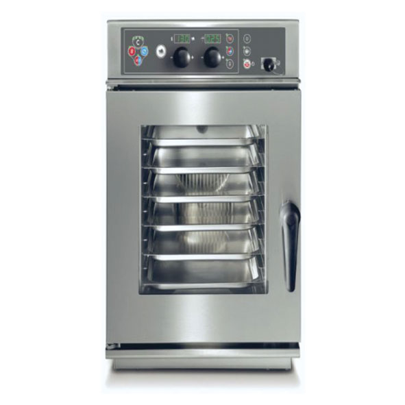Baron baron combi oven electric 6x1 1gn slim line electronic control direct steam cev061s
