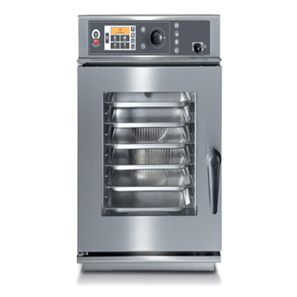 Baron baron combi oven electric 6x1 1gn slim line touch control direct steam cev061x