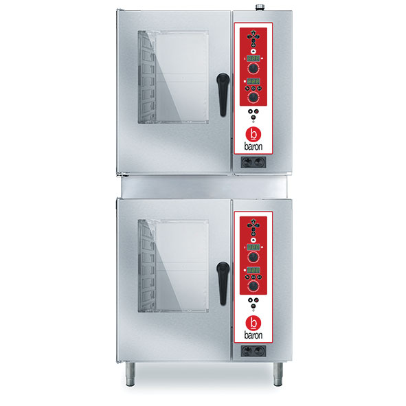Baron combi oven electric electronic control double stacked gzes07