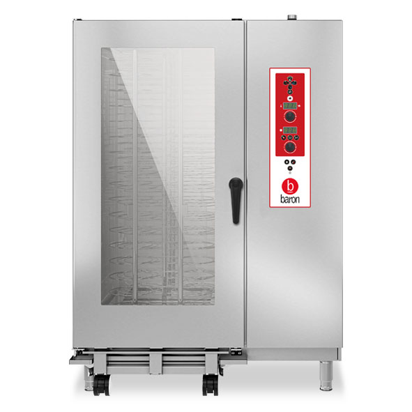 Baron baron combi oven electric 40x1 1gn electronic control direct steam opves202