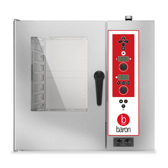 Baron baron combi oven gas 7x1 1gn electronic control direct steam opvgs071