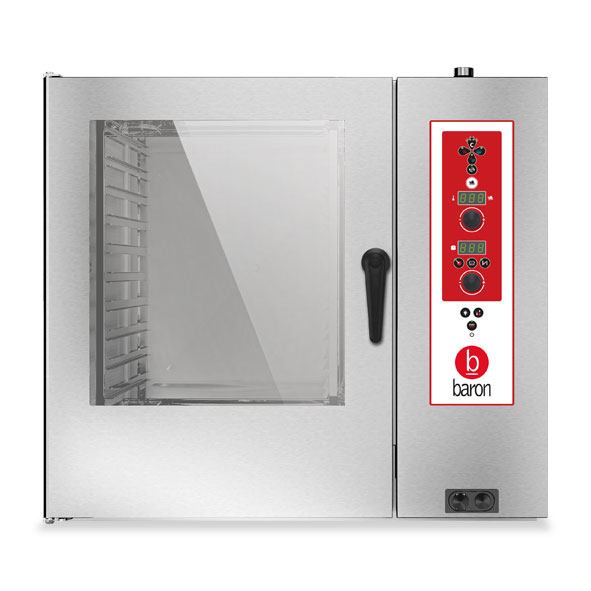 Baron baron combi oven gas 10x2 1gn electronic control direct steam opvgs102