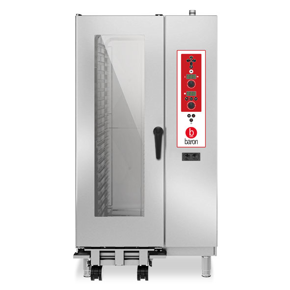 Baron baron combi oven gas 20x1 1gn electronic control direct steam opvgs201