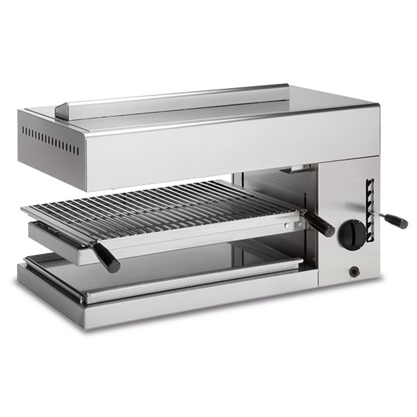 Baron baron salamander grill adjustable height gas 575x400 cooking surface sg0