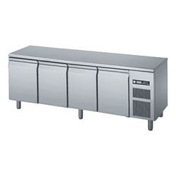 Polaris FTA BT 04 Underbench Freezer 509L freezer with 4 doors and s/steel top, temp range of -15 to -20.