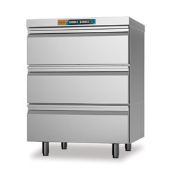 Moduline HDCF 13E Cold Holding Drawers Refrigerated/freezer drawers. 2 x 1/1 GN ref. and 1/1 GN freezer capacity.
