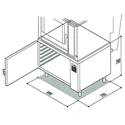 Moduline MA 101 Warming Stand/Prover Electric warming stand for combi ovens, 12 x 1/1GN capacity.