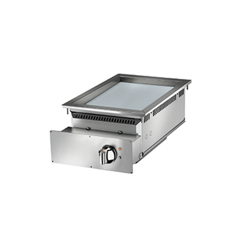Baron baron 1 burner drop in electric fry top smooth chrome plate and thermostat control di7fte405