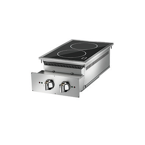 Baron baron 2 heat zone drop in electric induction cook top di7pcind400