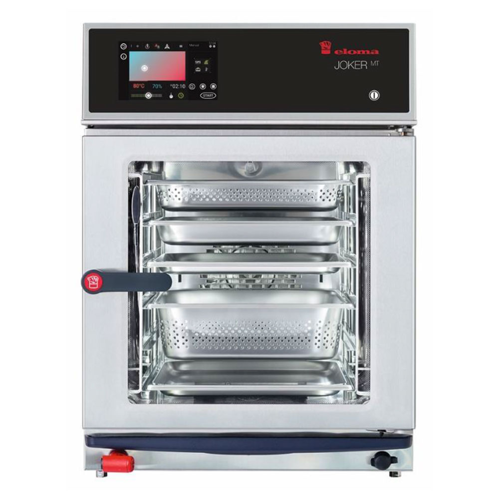Eloma eloma joker compact 1 1 electric combi oven active dehumidification rh door el6313001 2x
