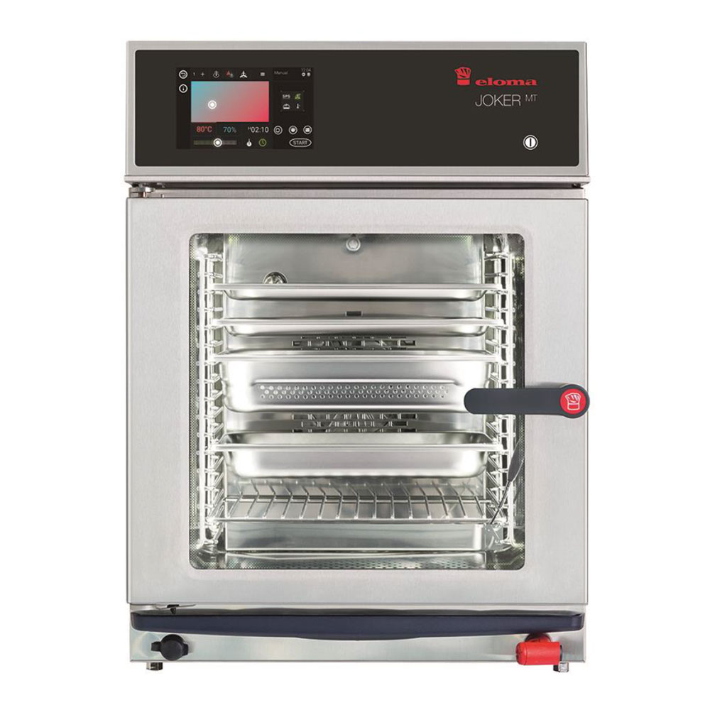 Eloma eloma joker compact 2 3 electric combi oven active dehumidification lh door el6213007 2x
