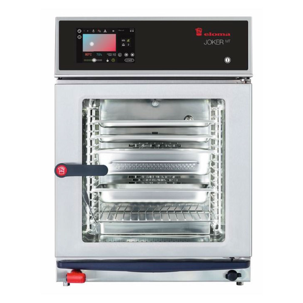 Eloma eloma joker compact 2 3 electric combi oven active dehumidification rh door el6213005 2x