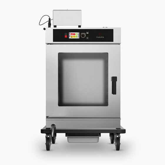 Hot or cold smoker oven. 8 x 2/1 GN or 16 x 1/1 GN capacity. 55kg product capacity.