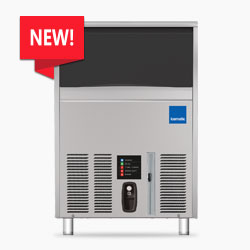 Icematic F Series: F90C-A, 90kg production of self contained under counter ice flaker machine