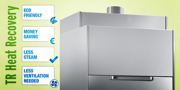 Dihr TR Heat Recovery Exhaust System, Eco Saving, Money Saving, Less Steam, Less Ventilation Needed LP Series Pot Washers
