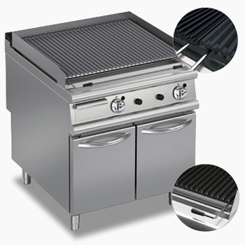 Baron commercial bbq chargrill features