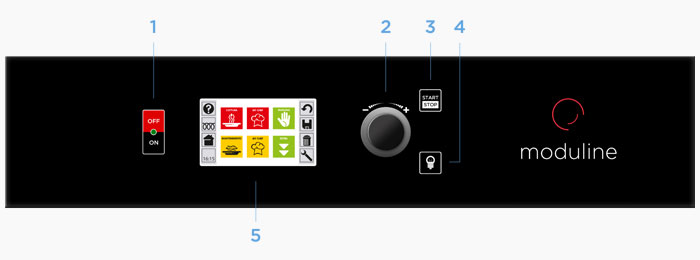 Moduline Cook&Hold Series: control panel