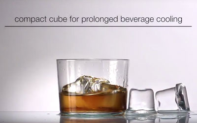 icematic gourmet bright cube for the perfect scotch on the rocks