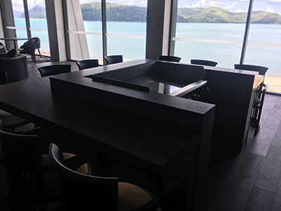 Baron Daydream Island Resort private Teppanyaki Suite ocean view