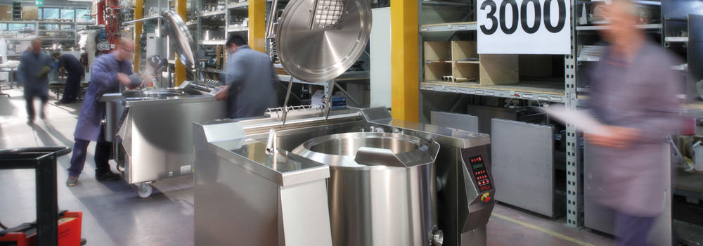 Certified food machinery for industry, catering and centralised kitchens