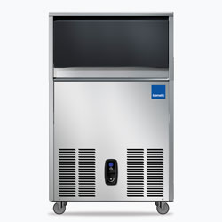 Icematic CS Series: CS50-A, 50kg production of bright gourmet ice, 22kg internal storage, self contained ice machine cuber