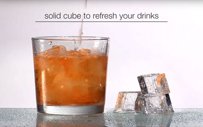 icematic dice cube to refresh your drinks