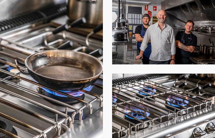 Baron Kitchen Ormeggio at the Spit Mosman collage