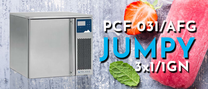 PCF031/AFG: Polaris Bench Model Blast Chiller/Freezer, 3 x 1/1GN, 5/8kg product capacity