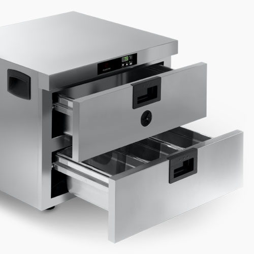 Moduline Hot Holding Warm Series: warming drawer features isometric