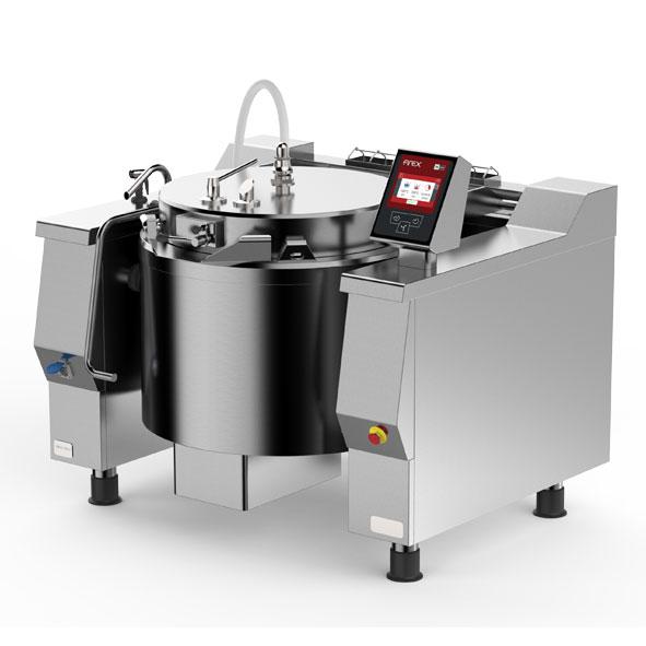 Firex firex cucimix pressurised tilting braising pans mixer direct steam heating cbtv a