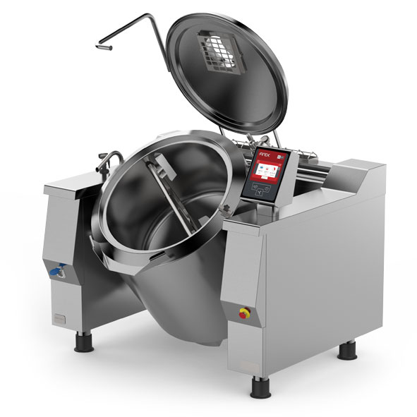 Firex firex baskett tilting jacketed kettles mixer indirect steam heating pr iv m