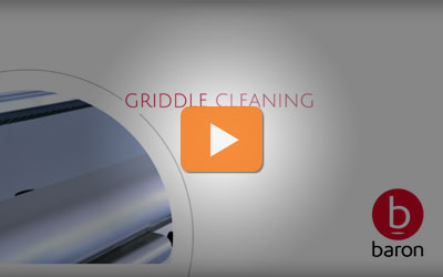 cleaning your Baron chrome griddle intructions. Quick and easy