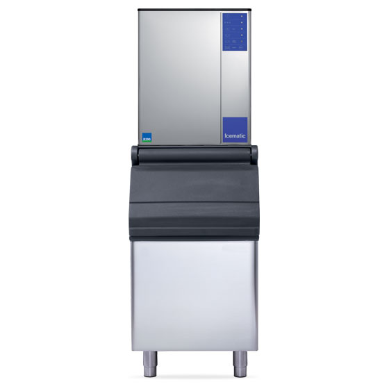 Icematic ice machine slim line eco friendly high production modular mh195eco