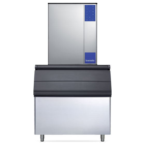 Icematic icematic ice machine 400kg high production modular half dice mh402