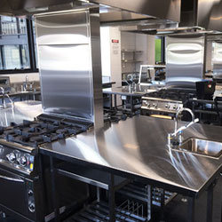 The brand new Ballina Coast High School training kitchen featuring the Baron 700 Series line of medium commercial catering equipment