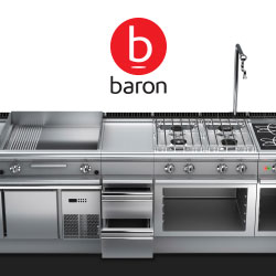 Baron Commercial Cooking And Kitchen Equipment, Fully Customisable Options For Every Need, Made In Italy