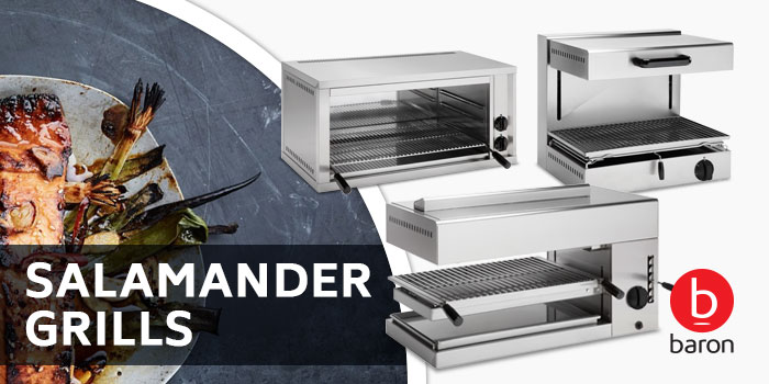 Salamander grills, Baron Commercial Cooking Equipment, High Performance, Compact Size, Made In Italy