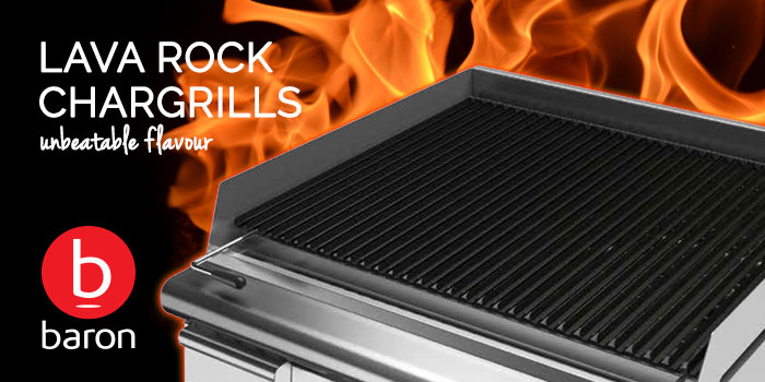 Baron commercial professional lava rock chargrills bbqs