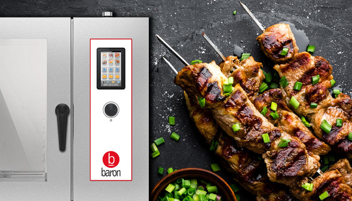 Baron commercial combi ovens, skewers for grilling and tandoori, get more out of your combi oven