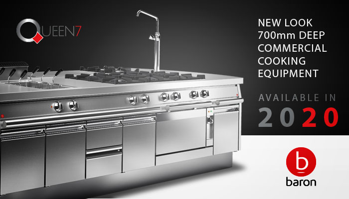 Baron Queen7 Commercial Cooking And Kitchen Equipment, 700mm Depth Available in 2020, Made In Italy