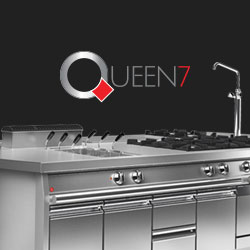 Baron Queen7 Commercial Cooking And Kitchen Equipment, 700mm Depth Available now, Made In Italy