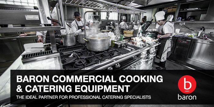 Cook tops and cooking ranges, induction tops and woks, fry tops, deep fryers, barbeques, bratt pans, solid tops, stock pots, combi ovens, salamander grills