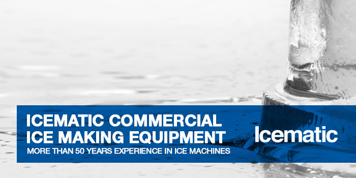 Manufacturers of commercial ice making equipment such as ice cubers, flakers, ice dispensers and ice storage solutions. ICEMATIC is synonymous with ice makers.